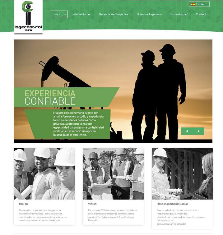 Sitio web para INGECONTROL - Año ©2014
