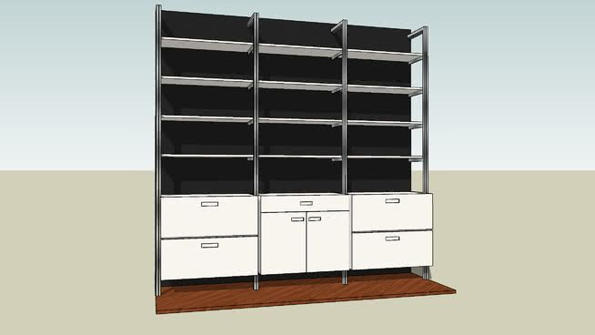 Wall Mounted Shelving And Storage Unit By Smart Furniture 3d