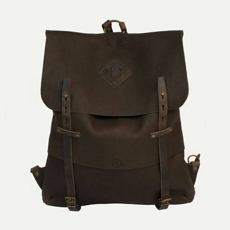 Sac à dos Coursier cuir, Kenya - Coursier backpack, Kenya. Bleu de Chauffe. Made in France #backpack #workwear #fashion #handmade