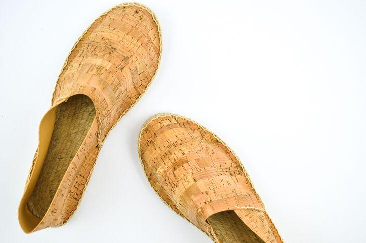 diy espadrilles aus kork cork shoes korkstoff. Black Bedroom Furniture Sets. Home Design Ideas