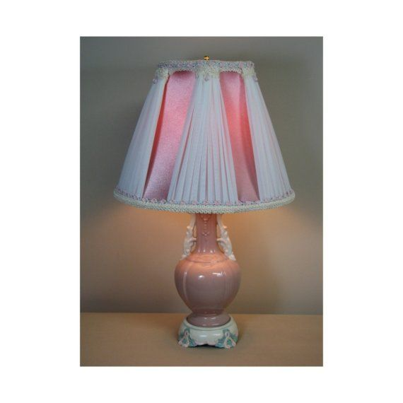 Vintage Table Lamp with Victorian Lamp Shade  by shadezofmichelle, $750.00