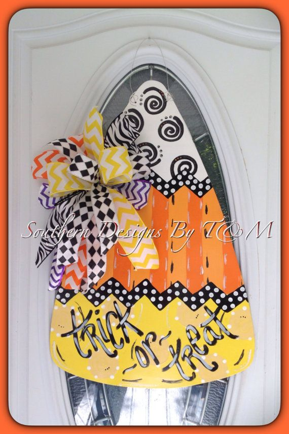 Product Detail: this listing is for a creative and fun candy corn with so much fun!! It is handmade out of 1/4 wood. Custom Details: these