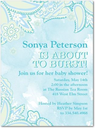Ceci New York for Tinyprints: Pregnant Paisley: Tropical: Shower Ideas, Baby Shower Invitations, Pregnant Paisley, New York, Ceci Collaborations, Tiny Prints, Baby Stuff