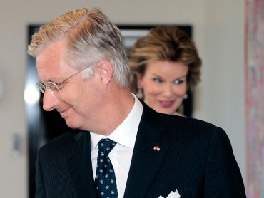 King Philippe of the Belgians ahead of a meeting with the Prime Minister of Norway, Erna Solberg on April 30th 2014