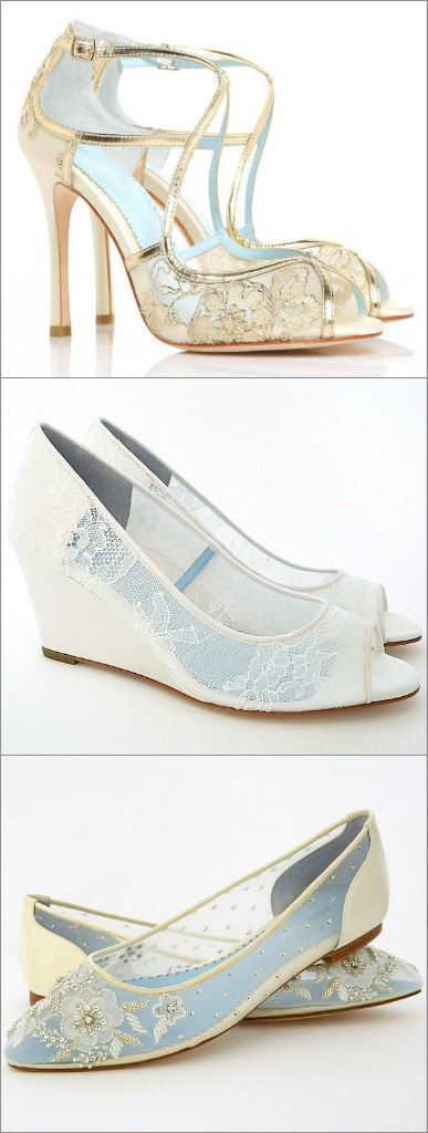 Lace Wedding Shoes! Heels, Wedges, Flats. Our collection of Bella Belle bridal shoes has your shoe style covered. Flirty, feminine wedding shoes.  Walk down the aisle in style.