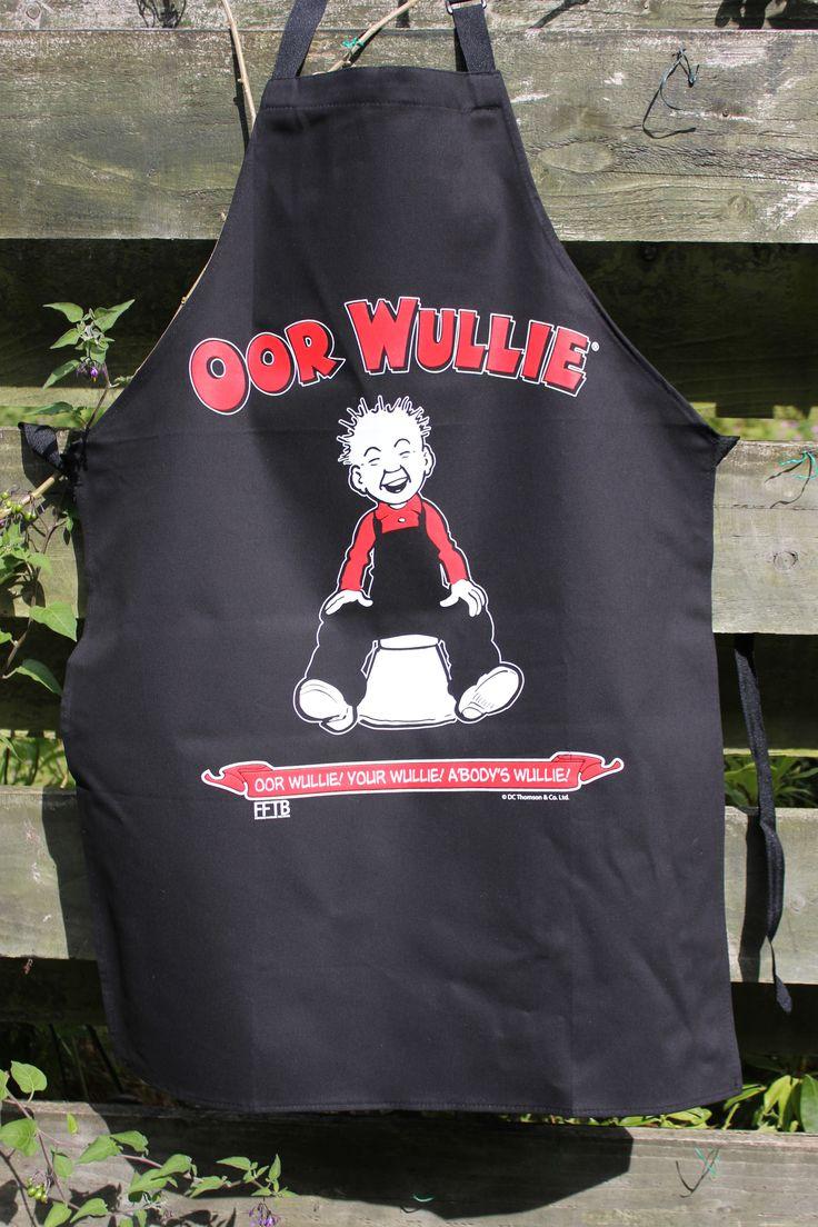 White tea apron - Oor Wullie Has His Own Apron Tea Towelsapronsscotland