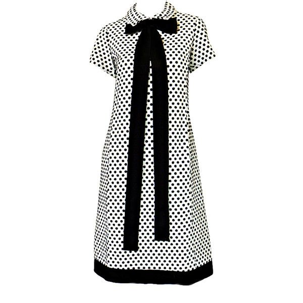 Geoffrey Beene - 1960s Dotted Geoffrey Beene Shift Dress