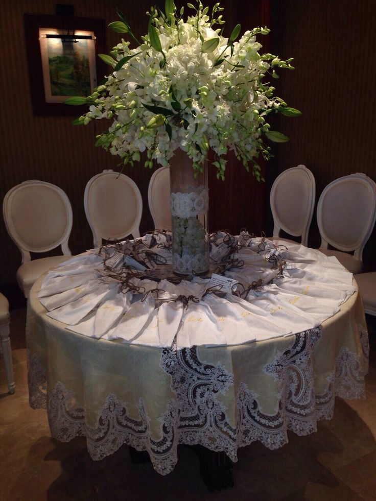 One of our reception set from Kuwait.  French lace with linen