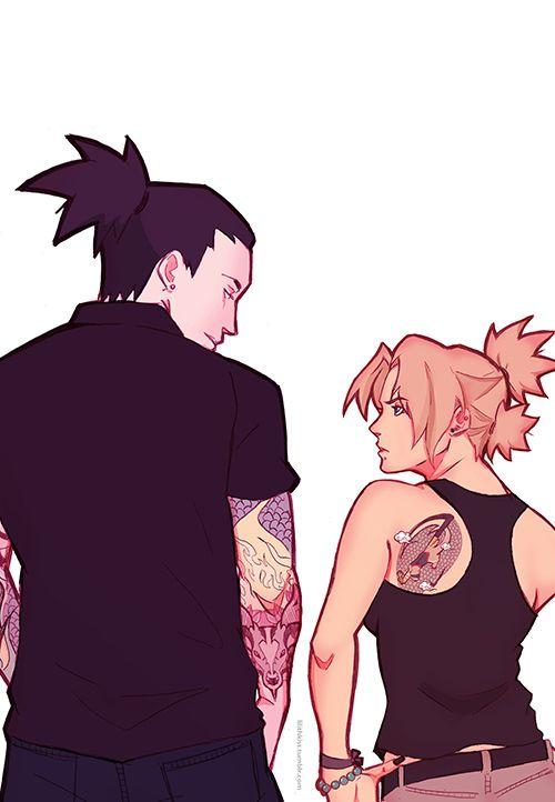 Shikamaru n Tamari with tats<<<some reason i imagine them two to be in dauntless