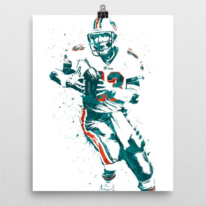 Dan Marino poster. Marino is a former American football player who was a quarterback for the Miami Dolphins of the National Football League (NFL). He is recognized as one of the greatest quarterbacks