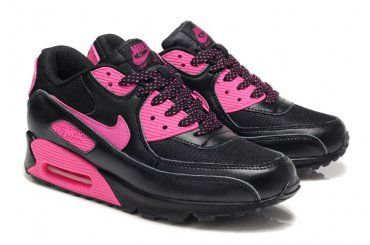 Nike Air Max 90 Womens Black/Pink Foil Shoes