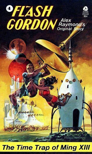 George Wilson : 'Flash Gordon 4 - The Time Trap of Ming XIII' by Alex Raymond / Avon 20446, 1974