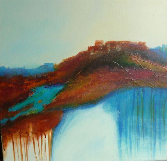 Desert Heights...Acrylic/Mixed Media