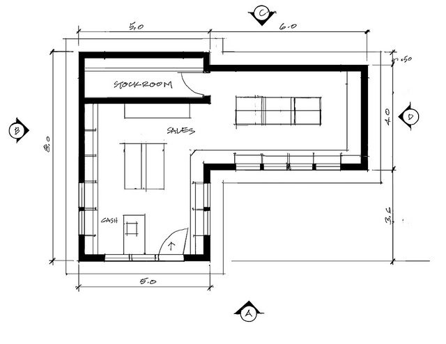 17 best images about floor plan retail on pinterest for Retail building plans