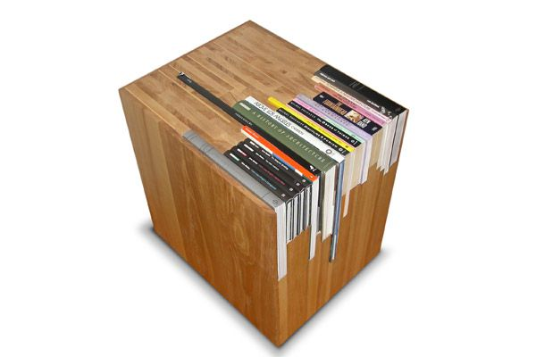 Book Table by Lisa Finster: Custom made to precisely fit your favorite books. #Book_Table #Table #Lisa_Finster