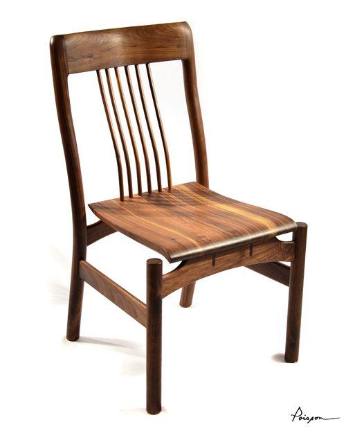 Chaise sans bras LOÏC | Noyer noir / Dining chair LOIC | Walnut
