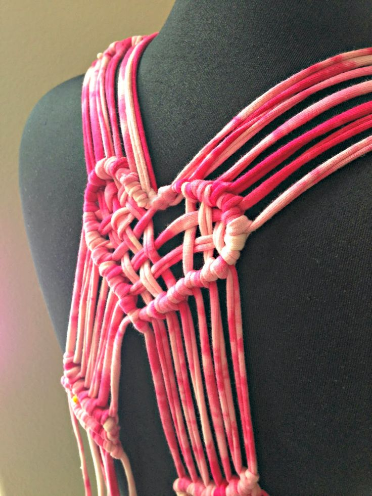Trash To Couture: DIY macrame heart straps to future bra!