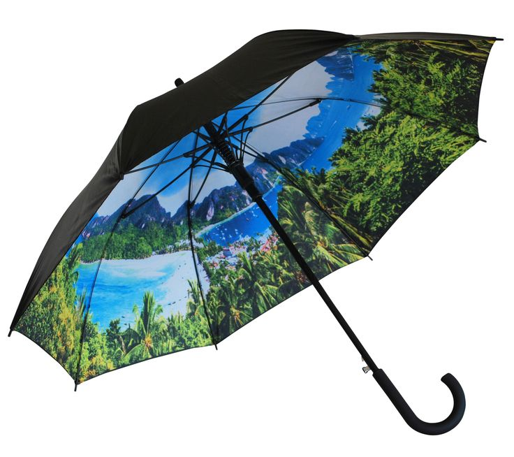 'Jungle Tropics' Classic Umbrella | Where I'd Rather Be | http://www.whereidratherbe.co.uk/products/jungle-tropics-classic-umbrella