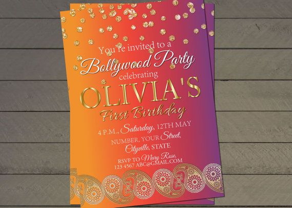 De partij van de verjaardag van de Bollywood uitnodigen