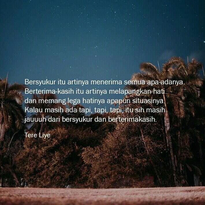 Quotes Tere Liye Dengan Gambar Kutipan Bersyukur