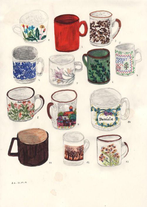 Angela Dalinger: my 13 cups #cups #cool #followforfollow #sunny #mugs