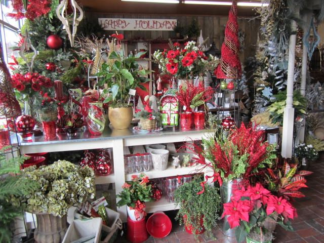 Holiday Décor in reds available at Owens Flower Shop (Lawrence, KS)