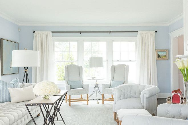 Do You Have A Photo Wall Show Us I D Love To Add It To The Bottom Of This Post Just Sub Blue Walls Living Room Blue Paint Living Room Light Blue
