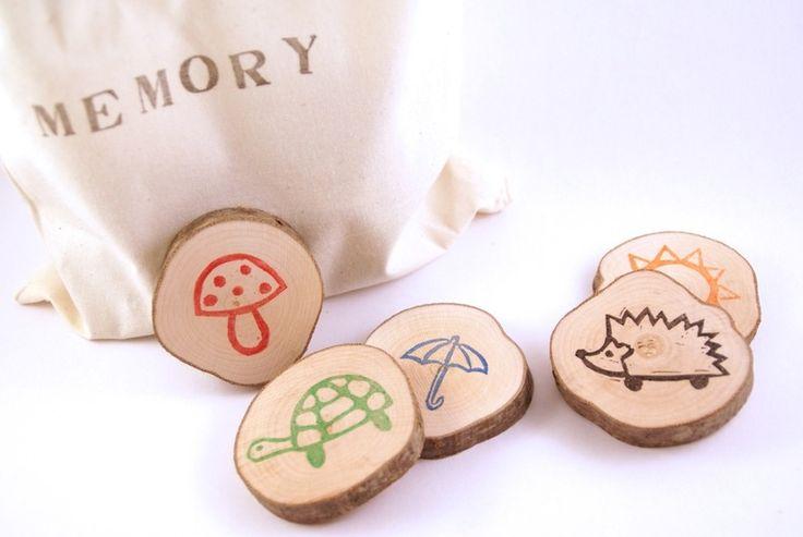 Memory aus Holzscheiben (13 Paare) von Ringelspatz auf DaWanda.com