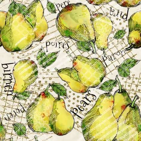 Perfect Pears fabric by milly_dee on Spoonflower - custom fabric