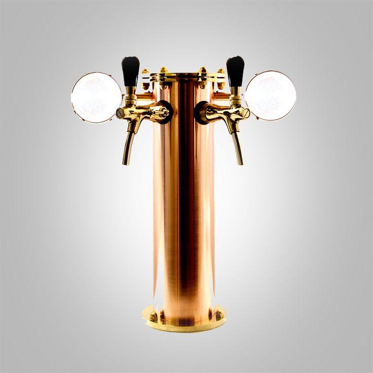 #copper beer tower, beer font, beer tap