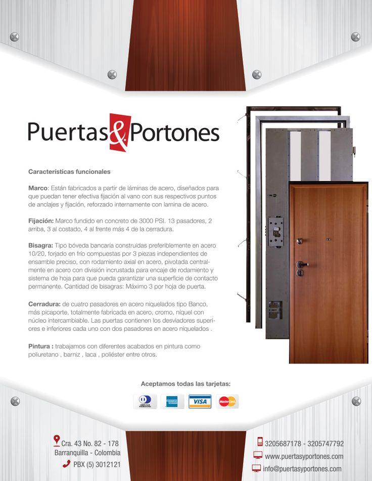 Ficha tecnica Puertas de seguridad y blindadas Cliente:Puertas & Portones