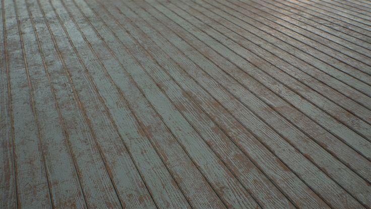 ArtStation - Wooden Planks Painted/Dirty - Substance, Joshua Williams