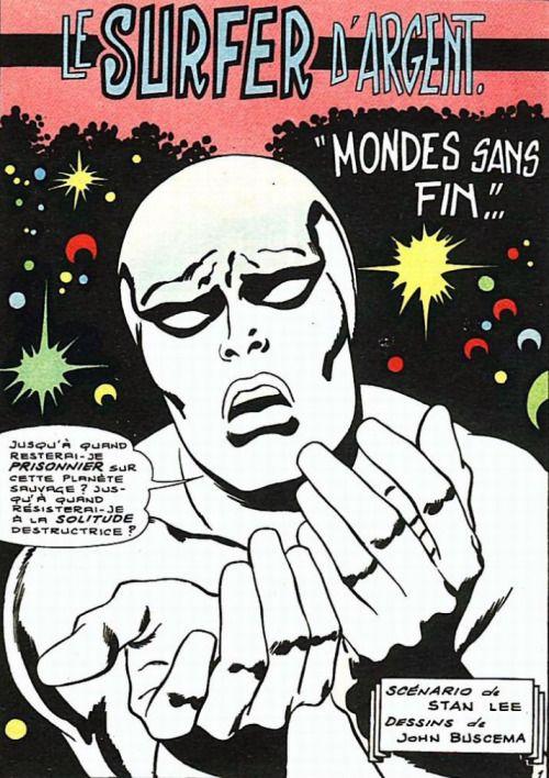 John Buscema - Le Surfeur d'argent - Mondes sans fin, 1969.