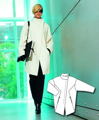 Burda style pdf coat pattern