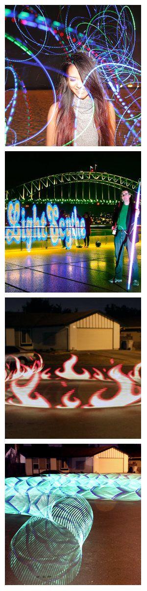 Световая картина художественной светотехники получается при фотографировании пейзажа с большой выдержкой экспозиции с движущимися огнями и световыми эффектами.  Традиционно, эти изображения делали вручную при помощи фонарика с различными цветовыми фильтрами. Но в последнее время, стали доступны микроконтроллеры с адресными светодиодами (светодиодными лентами) RGB, которые привнесли в эту идею новый высокотехнологичный поворот. #рисованиесветом #светографика #фризлайт #Freezelight #светодиоды