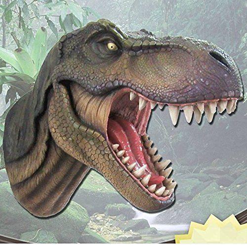 """Jurassic King"" T-Rex Head Wall Mount, http://a.co/fDME4Ni"