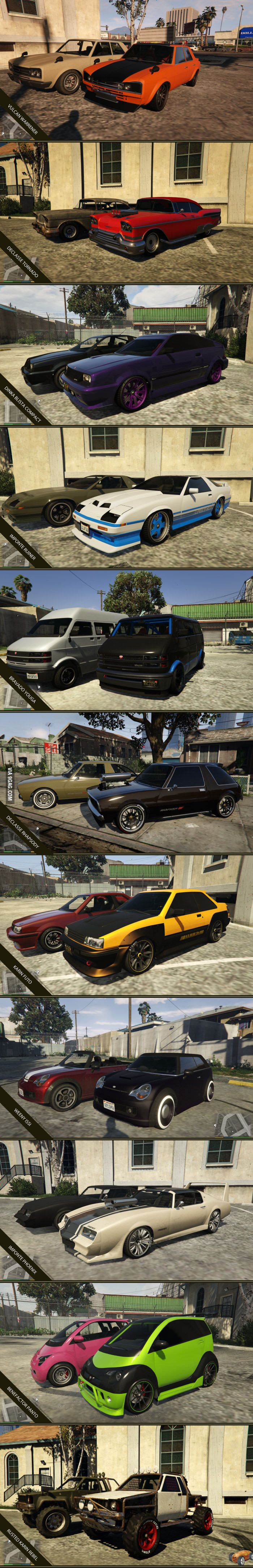 These GTA V cars tend to be neglected by the players, I gave them some attention!
