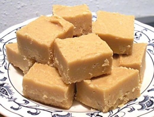 Easiest PB Fudge EVER 2 cups sugar, 1/2 cup milk, 1 tsp. vanilla, 3/4 cup peanut butter. Bring sugar and milk to a boil. Boil two and a half minutes. Remove from heat and stir in PB and vanilla.
