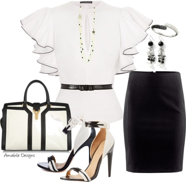 """""""Black and White work wear"""" by amabiledesigns on Polyvore"""