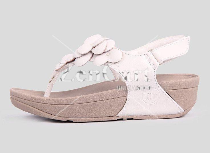 New Fitflop Fleur Sandals Urban White