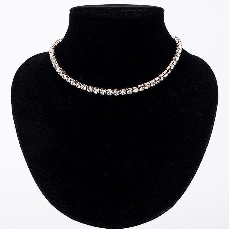 Awesome Rhinestone Choker Necklace