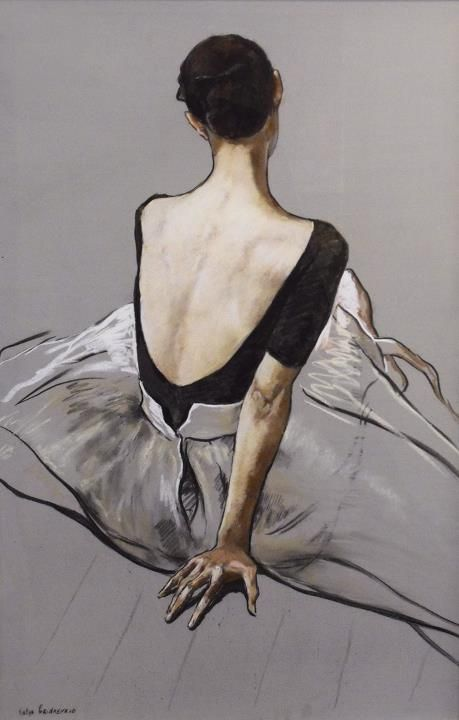 Beautiful painting of a ballet dancer
