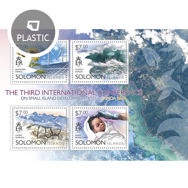 Post stamp Solomon Islands SLM 14501 a	The 3rd SIDS Conference (Renewable energy, Tsunami danger, Global warming, Infant protection)