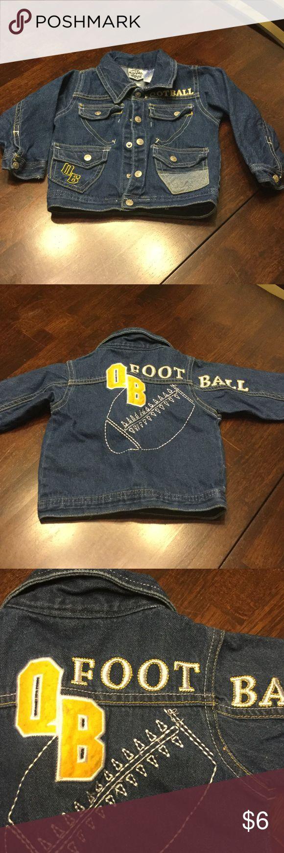 Boys jacket Boys jean football jacket. Great condition Jackets & Coats Jean Jackets