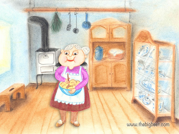 (4/14) He called grandma, who was baking some cakes in the kitchen. Grandma dropped what she was doing and went to help.