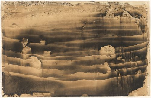 """Yves Tanguy. Untitled. 1936 Decalcomania (ink transfer) on paper. 12 3/4 x 19 3/4"""""""