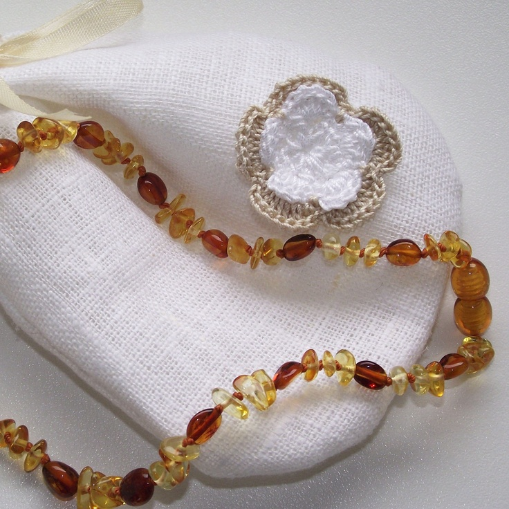 Baltic Amber Baby Teething Necklace Multicolor by AmberBabyGift