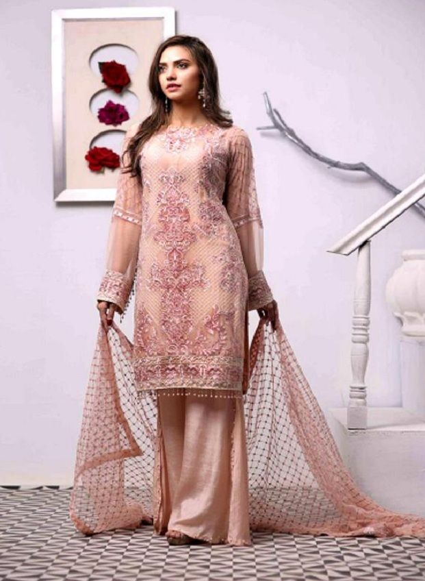 dce2a9c6ea Juvi Fashion Zebaish Fox Georgette With Heavy Embroidery Suit 31004 ...