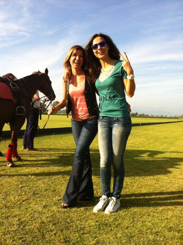 Laura Bariales and Diana Dieppa on the Polo Field ,