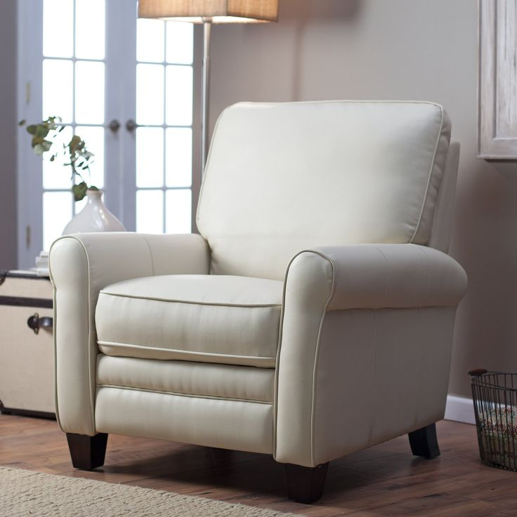 Have to have it. Barcalounger Meridian II Leather Recliner - Cream - $449 @hayneedle.com